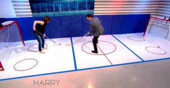 Harry tries hockey