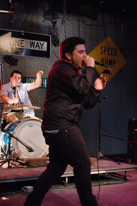 Chris Chiarulli - Lead Vocals in Cross Check at Live From Studio A March 30, 2015 at Hofstra University's Lawrence Herbert Hall School of Communications in Hempstead, NY by Samantha Sedlack