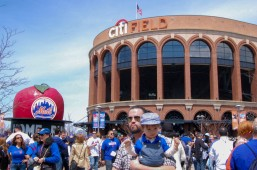 A very family friendly crowd at Harvey Day and a 8 game win streak at Citi Field in Queens, New York on Sunday April 19th, 2015 photo by Samantha Sedlack