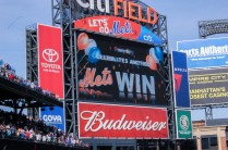 Mets clinch the 8th game in their win streak on Harvey Day at Citi Field in Queens, New York on Sunday April 19th, 2015 photo by Samantha Sedlack