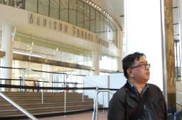 Music journalist Glenn Gamboa outside of his most frequented area of work, Madison Square Garden, on April 27th, 2015 by Samantha Sedlack